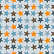 Seamless Pattern With Starfishes, Fully Editable Eps 8 File With Clipping Masks And Pattern In Swatch Menu