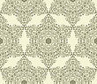 Seamless Vintage Highly Detailed Hexagon Pattern With Highly Detailed Floral Composition, Fully Editable Eps 8 File, Pattern In Swatch Menu
