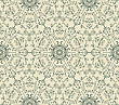 Seamless Vintage Seamless Pattern With Highly Detailed Hexagon Snowflakes, Fully Editable Eps 8 File, Pattern In Swatch Menu