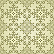 Seamless Vintage Wallpaper Pattern On Gradient Background, Fully Editable Eps 8 File With Clipping Mask And Pattern In Swatch Menu