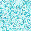 Seamless Winter Pattern With Frosty Swirls And Snowflakes, Fully Editable Eps 10 File, Seamless Pattern In Swatch Menu