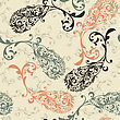 Seamless Winter Pattern With Highly Detailed Paisley Elements, Fully Editable Eps 8 File With Clipping Masks And Pattern In Swatch Menu