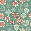 Seamless Winter Pattern With Snowflakes, Fully Editable Eps 8 File With Clipping Mask
