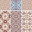 Six Seamless Patterns In Oriental Style, Can Be Used As Background, Wrapping Paper Or Wallpaper