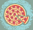 Pizza Symbol Of Delisious Pizza For Food stock vector