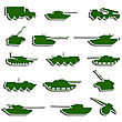 Tanks, Artillery And Vehicles From Second World War Stickers