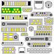 Video, Audio And Telephone Connectors stock illustration