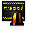 Vector Warning Background With Steel Background And Flasher