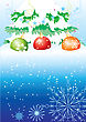 Winter Blue Postcard.New Year 2010 Background For Holiday