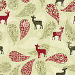 Winter Seamless Pattern With Christmas Decoration, Deers, And Snowflakes, Fully Editable Eps 8 File With Clipping Masks