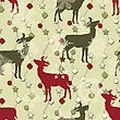 Winter Seamless Pattern With Christmas Decoration, Deers, And Snowflakes, Fully Editable Eps 8 File With Clipping Masks And 2 Seamless Patterns In Swatch Menu