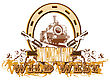 "Colt Theme Wild West With Inscription ""Wild West"" stock vector"