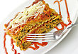Vegetable Lasagna With Fork stock photography