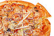 Pizza Vegetable Pizza Closeup With Tomato, Bulgarian Pepper, Onion, Olive, Champignons And Mozzarella Cheese stock photo