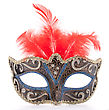 Venetian Carnival Mask Isolated On White Background Cutout stock photography