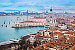 Venetian Lagoon With Ships. NIce Aerial View stock photography