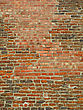 Very Ancient Brick Wall Background stock image