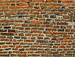 Very Ancient Brick Wall Background stock photography