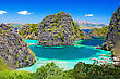 Very Beautyful Lagoon In The Islands, Philippines stock image