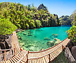 Nido Very Beautyful Lake In The Islands, Philippines stock image