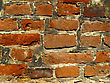 Very Old Brick Wall Background stock image