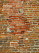 Very Old Brick Wall Background stock photo