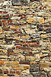 Very Old Stone And Brick Wall stock photography