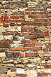 Very Old Stone And Brick Wall stock image