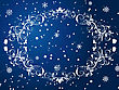 Victorian Winter Frame Background With Snowflakes Elements
