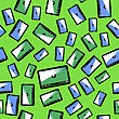 Video Player Seamless Pattern Isolated On Green Background