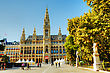 VIENNA - OCTOBER 06: Rathaus (Cityhall) With Tourists On October 06, 2012 In Vienna, Austria. The Rathaus Serves As The Seat Both Of The Mayor And City Council Of The City Of Vienna. stock photography