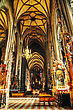 Famousplace VIENNA - OCTOBER 10: St. Stephen's Cathedral (Stephansdom) Interior On October 10, 2012 In Vienna, Austria. It's The Mother Church Of The Archdiocese Of Vienna And The Seat Of The Archbishop Of Vienna stock photo