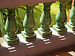 Bridges View Of Row Of Ceramic Banister stock photo