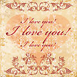 Vinage Valentines Day Greeting Card