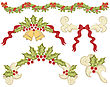 Vintage christmas elements for holiday stock vector