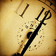 Vintage Clock Background stock image