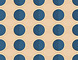 Vintage Colored Simple Seamless Pattern. Background With Paper Fold And 3d Realistic Shadow.Retro Fold Blue Circles On Waves