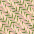 Vintage Colored Simple Seamless Pattern. Background With Paper Fold And 3d Realistic Shadow.Retro Fold Green Diagonal Striped Zigzag
