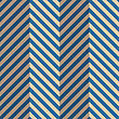 Vintage Colored Simple Seamless Pattern. Background With Paper Fold And 3d Realistic Shadow.Retro Fold Blue Striped Zigzag