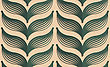 Vintage Colored Simple Seamless Pattern. Background With Paper Fold And 3d Realistic Shadow.Retro Fold Deep Green Striped Leaves