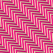 Vintage Colored Simple Seamless Pattern. Background With Paper Fold And 3d Realistic Shadow.Retro Fold Magenta Diagonal Striped Zigzag