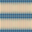 Vintage Colored Simple Seamless Pattern. Background With Paper Fold And 3d Realistic Shadow.Retro Fold Blue Clubs