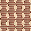Vintage Colored Simple Seamless Pattern. Background With Paper Fold And 3d Realistic Shadow.Retro Fold Brown Wavy Hexagons