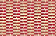Vintage Colored Simple Seamless Pattern. Background With Paper Fold And 3d Realistic Shadow.Retro Fold Red Striped Hexagons