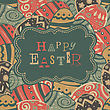 Vintage Easter Greetings. Vector, EPS10