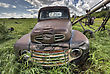 Vintage Farm Trucks Saskatchewan Canada Weathered And Old stock photo