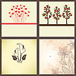 Vintage Greeting Cards Set stock vector