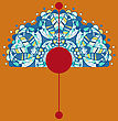 Vintage Half Of Mandala On Brown-yellow Color With Place For Your Text. Eps10