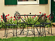 Vintage Iron Garden Table And Chairs stock image