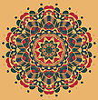 Vintage Mandala Of Orange-red Color With Place For Your Text
